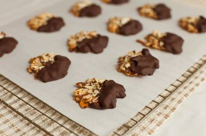 Chocolate Dipped Almond Cookies!