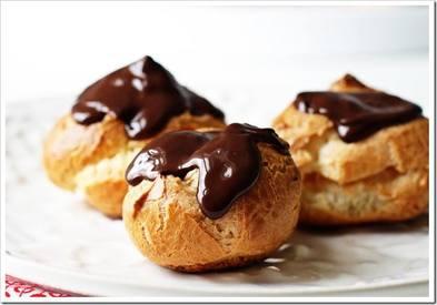 Chocolate Covered Vanilla Cream Puffs!