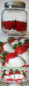 Vodka Soaked Chocolate Dipped Strawberries!
