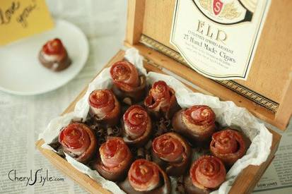 Chocolate Dipped Bacon Roses!