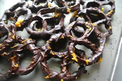 Orange Zest Chocolate Pretzels!