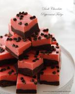 Dark Chocolate Peppermint Fudge!