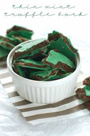 Thin Mint Truffle Bark!