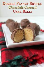 Double Peanut Butter Chocolate Cake Balls!