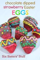 Chocolate Dipped Strawberry Easter Eggs!