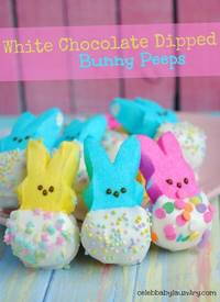 White Chocolate Dipped Bunny Peeps!