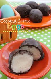 Chocolate Dipped Coconut Cream Eggs!