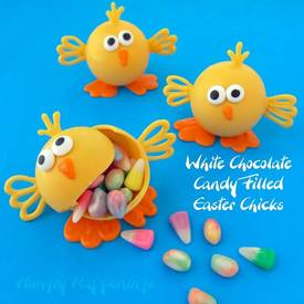 White Chocolate Easter Chicks!