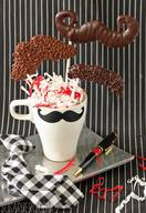 Chocolate Mustache Pops!
