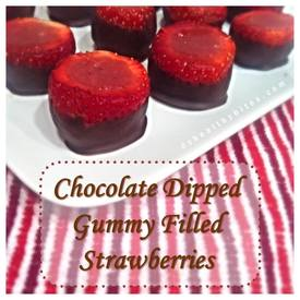 Chocolate Gummy Strawberries!