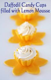 Daffodil Cups With Lemon Mousse Filling!
