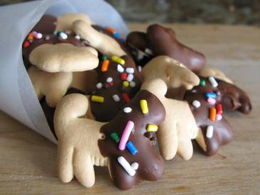 Chocolate Dipped Animal Crackers!