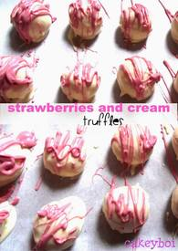 Strawberries & Cream Truffles!