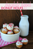 Chocolate Dipped Donut Holes!