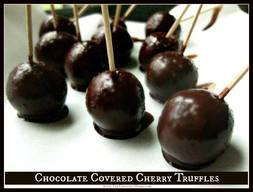 Chocolate Covered Cherry Truffles!