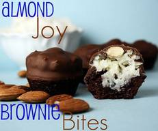 Almond Joy Brownie Bites!