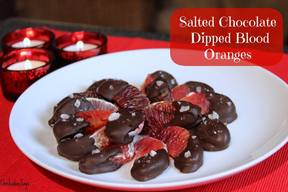 Salted Chocolate Dipped Blood Oranges!