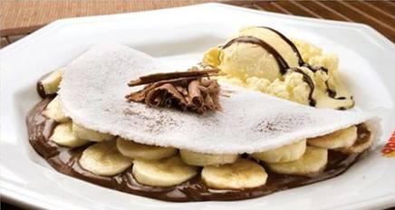 Banana Tapioca With Chocolate!