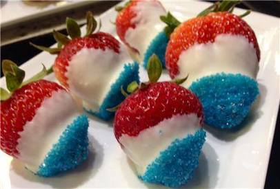 Red White & Blue Strawberries!