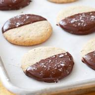 Chocolate Dipped Potato Chip Cookies!