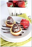 Chocolate Dipped Strawberry Popover Bites!