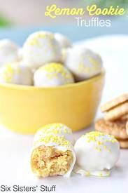 No Bake Lemon Cookie Truffles!