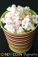 White Chocolate Candy Corn Popcorn!