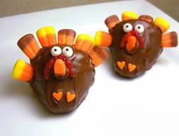 Chocolate Strawberry Turkeys!