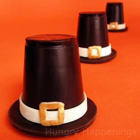 Chocolate Pilgrim Hats!