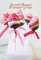 Chocolate Dipped Strawberry Pops!