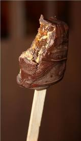 Chocolate Dipped Fig Newtons On A Stick!