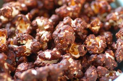 Chocolate Popcorn With Sea Salt!
