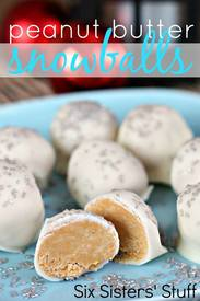 Peanut Butter Snowball Truffles!