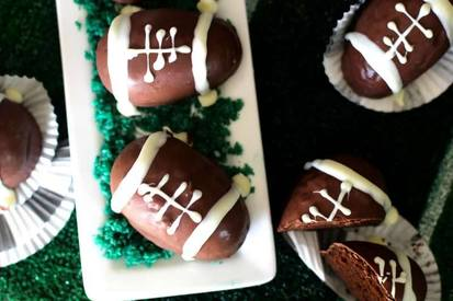 Chocolate Covered Mini Football Cakes!