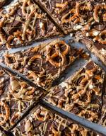 Pretzel Pb Stuffed Chocolate Bark!