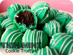Thin Mint Cookie Truffles!
