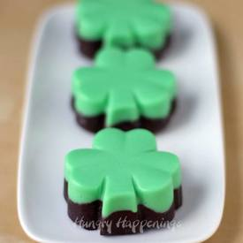 Creme De Menthe Fudge Shamrocks!
