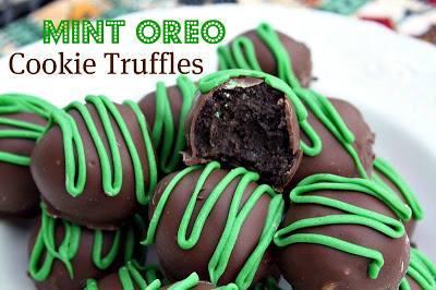 Mint Oreo Cookie Truffles!