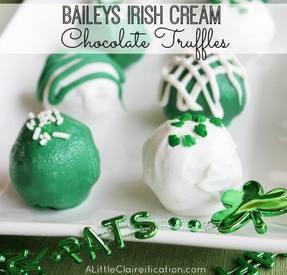 Baileys Irish Cream Chocolate Truffles!