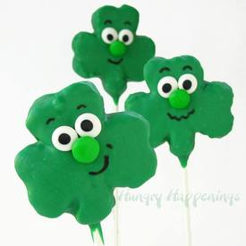 Crisp Rice Shamrock Pops!