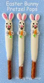 Easter Bunny Pretzel Pops!