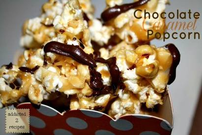 Chocolate Caramel Popcorn!