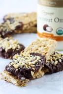Chocolate Dipped Cashew Granola Bars!