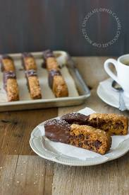 Chocolate Dipped Biscotti!
