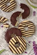 Fudge Striped Shortbread Cookies!