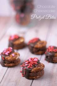 Chocolate Cheesecake Pretzel Bites!