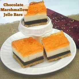 Chocolate Marshmallow Jello Bars!