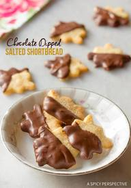Chocolate Dipped Salty Shortbread!