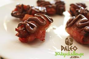 Chocolate Covered Bacon Wrapped Dates!