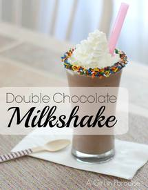 Double Chocolate Milkshake!